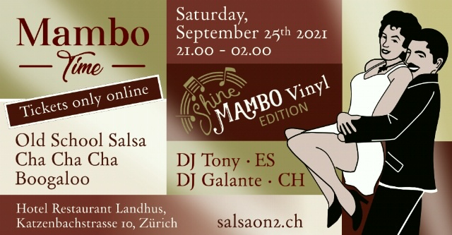 Poster for Mambo Time - Shine Mambo Edition (Mambo Weekend) on Saturday, September 25 by SalsaOn2Happenings