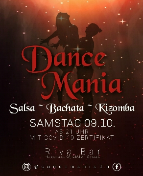 Poster for Dance Mania at Riva Bar ~ SaBaKi on Saturday, October  9 by Dance Mania_Seli