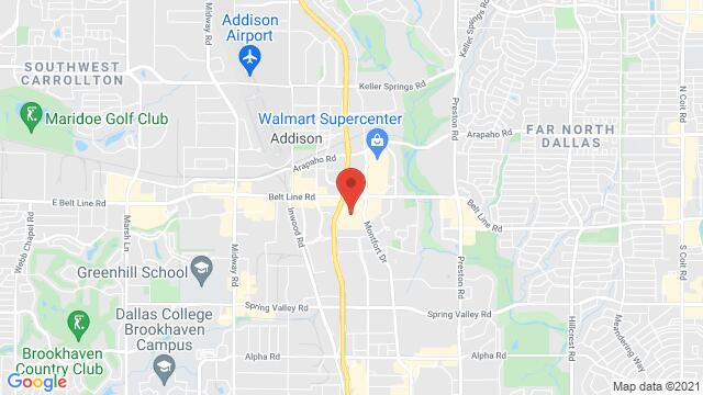 Map of the area around 5100 Belt Line Road. Suite 864 Addison TX United States