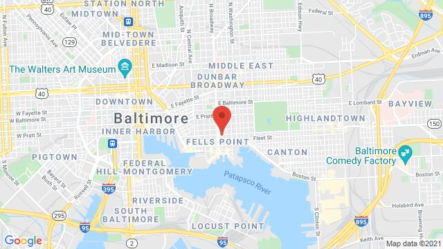 Map of the area around 1713 Eastern ave Baltimore MD United States