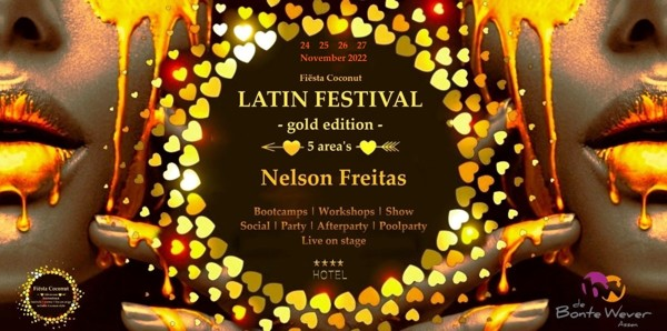 Poster for Latin Festival XXXL - 4 days - 5 area's in Assen on Saturday, November 26 by Fiesta Coconut