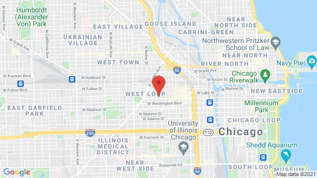 Map of the area around 1240 W Randolph St Chicago IL United States