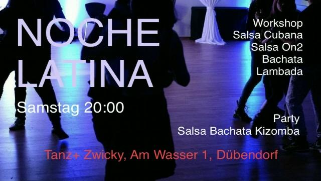 Poster for 🌟 NOCHE LATINA 🌟 Salsa Workshop + Party mit DJ Raffi on Saturday, September 25 by Tanz+ Zwicky