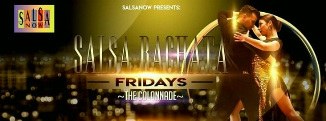 Poster for Salsa Bachata Fridays At The Colonnade on Friday, September 17