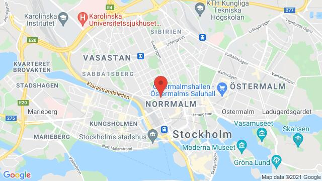 Map of the area around City Center, Stockholm, Sweden