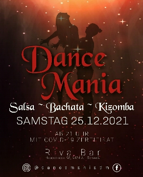 Poster for Dance Mania at Riva Bar - SaBaKi on Saturday, December 25 by Dance Mania_Seli