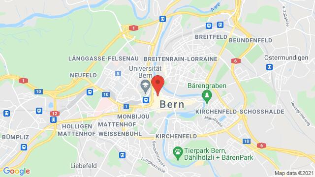 Map of the area around Aarbergergasse 40 3011 Bern