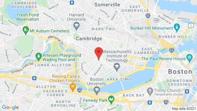 Map of the area around 288 Green St, Central Sq Cambridge MA United States