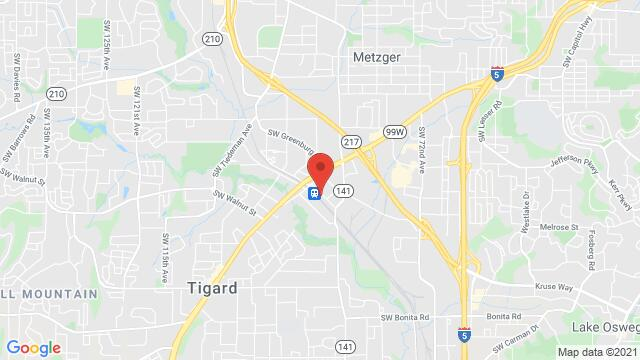 Map of the area around 8900 SW Commercial St. Tigard OR US