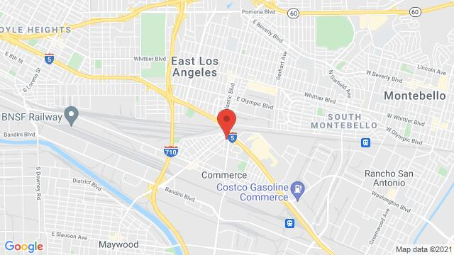 Map of the area around 5332 E. Stevens Place Commerce CA United States