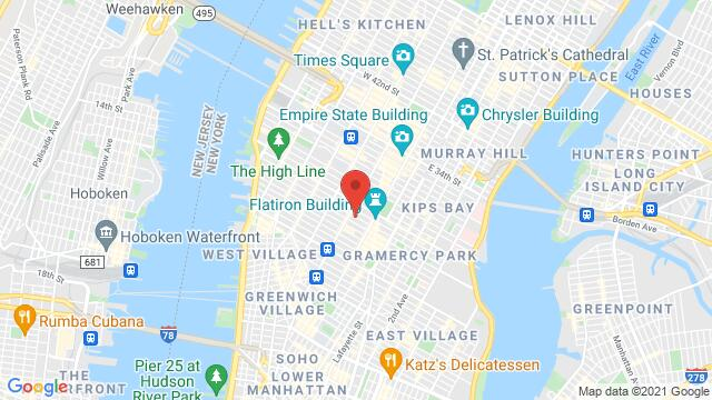 Map of the area around 48 W 21st St New York NY US