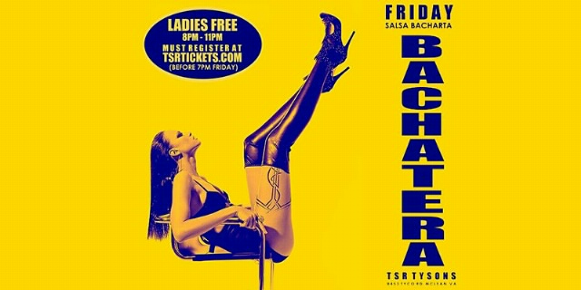 Poster for Latin Fridays at The Salsa Room on Friday, October  1
