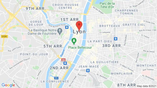 Map of the area around Lyon , France