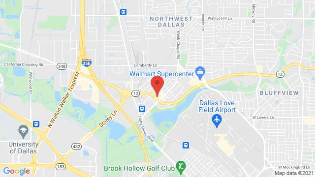 Map of the area around 2907 W Northwest Hwy Dallas TX United States