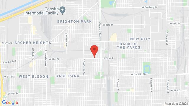 Map of the area around 2524 W 51st St Chicago IL United States