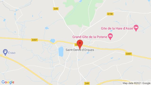 Map of the area around Saint-Denis-d'Orques 72350 , France