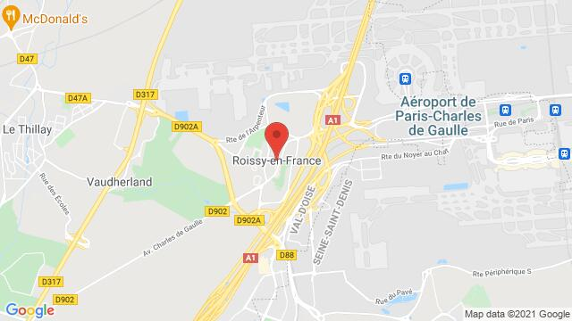 Map of the area around , 95700 Roissy-en-France, France