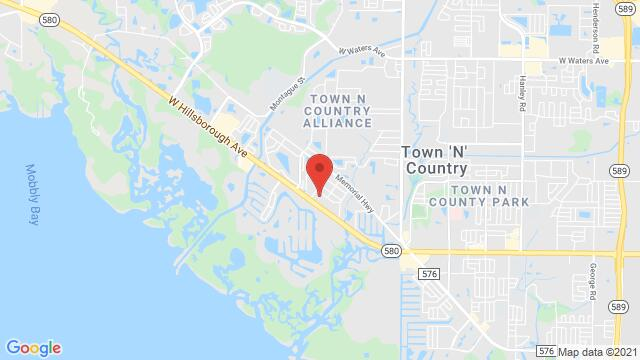 Map of the area around 10051 W. Hillsborough Ave Tampa FL United States