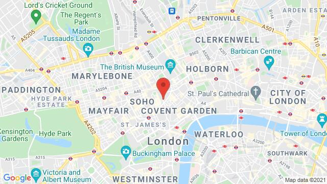 Map of the area around 96 Charing Cross Road London GB