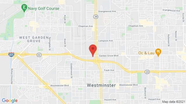 Map of the area around 7722 Garden Grove Blvd Westminster CA United States
