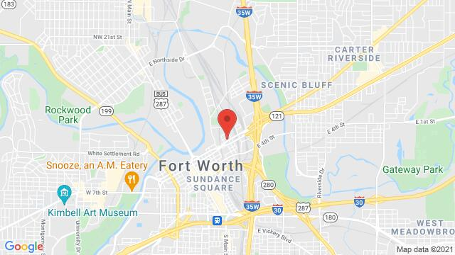 Map of the area around 1117 E. Belknap St Fort Worth TX United States