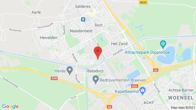 Map of the area around St. Josefstraat 1, Best, The Netherlands