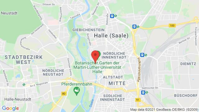 Map of the area around , 06108 Halle (Saale), Germany