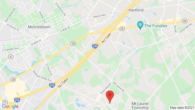Map of the area around 08054 Mt Laurel Township, NJ , USA