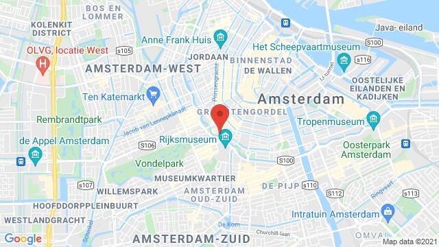 Map of the area around Weteringschans 6-8, Amsterdam, The Netherlands