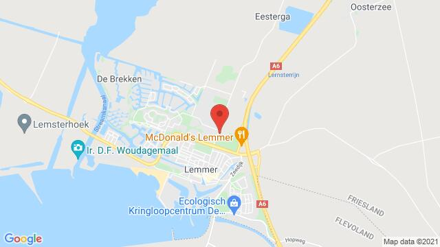 Map of the area around PACKHUIS, Lemmer, The Netherlands