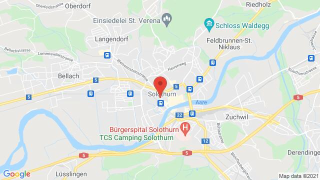 Map of the area around Wengistrasse 31 4500 Solothurn