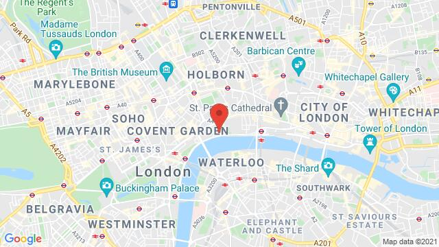 Map of the area around Temple Place London United Kingdom