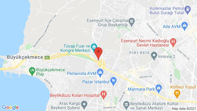 Map of the area around Kaya Istanbul Fair & Convention Hotel