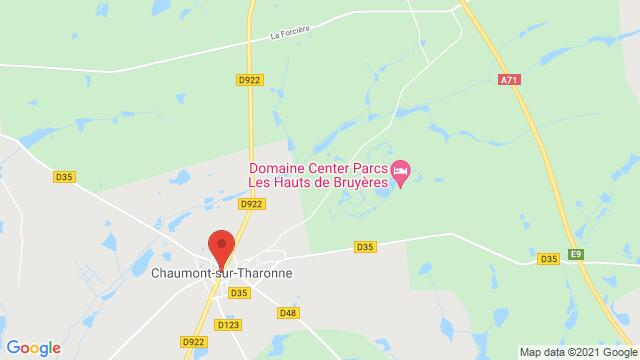 Map of the area around 41600 Chaumont-sur-Tharonne, France