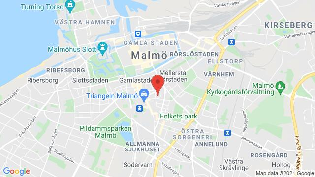 Map of the area around Torpgatan 21, first room to the right, Malmö, Sweden