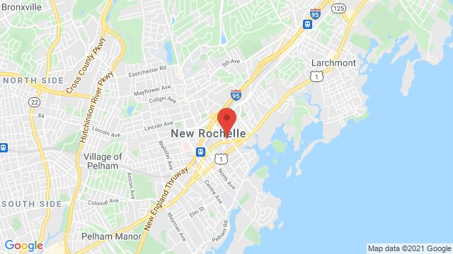 Map of the area around 1 Radisson Plz New Rochelle NY United States