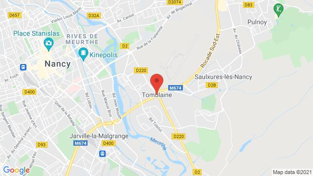 Map of the area around Tomblaine 54510 , France