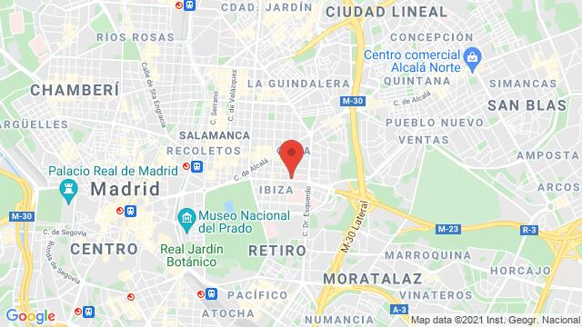 Map of the area around Novotel Madrid Center Calle de O'Donnell, 53, 28009 Madrid, Spain