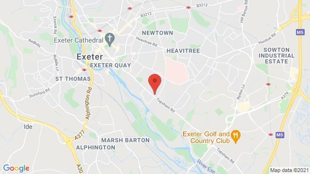 Map of the area around The Buckerell Topsham Rd, Exeter EX2 4SQ, UK