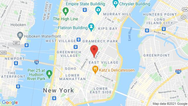Map of the area around 232 E 9th St # 1 New York NY United States