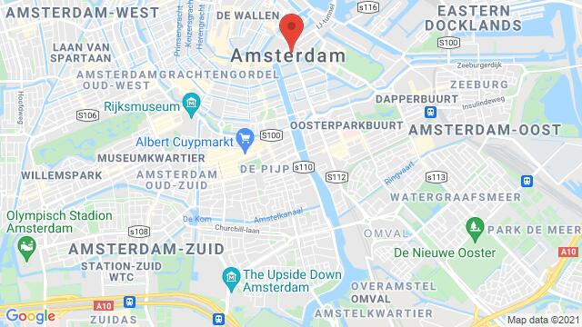 Map of the area around Amsterdam , Netherlands