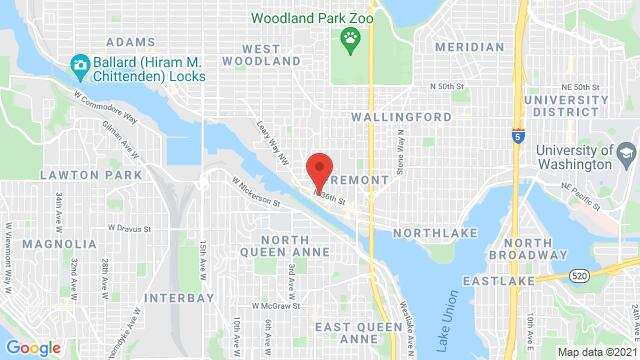 Map of the area around 211 N 36th St Seattle WA US