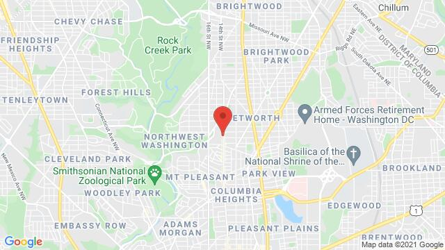 Map of the area around 3910 14th St NW Washington D.C. DC US