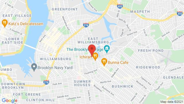 Map of the area around 315 Meserole St Brooklyn NY United States