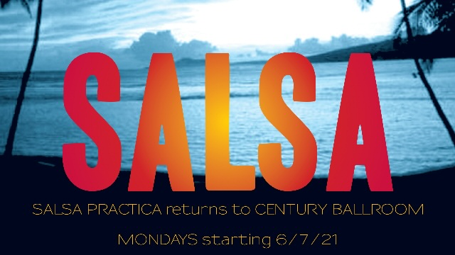 Poster for Monday Night Salsa Practica on Monday, October 25.