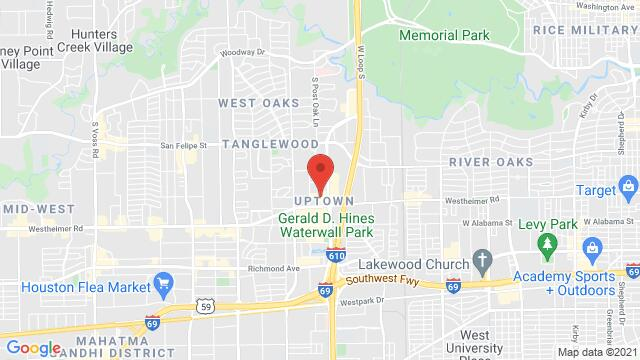 Map of the area around 5000 Westheimer Rd #602 Houston TX US