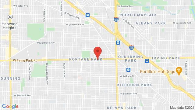 Map of the area around 5215 W Irving Park Rd Chicago IL United States