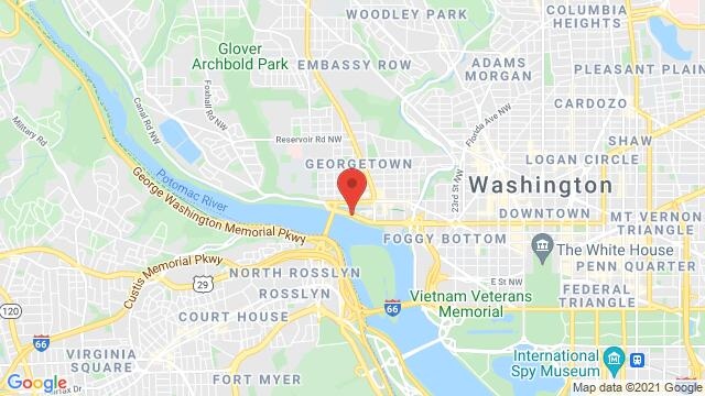 Map of the area around 3300 Water St NW Washington DC DC United States