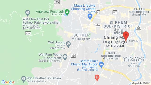 Map of the area around Chiang Mai , Mueang  District, , Thailand