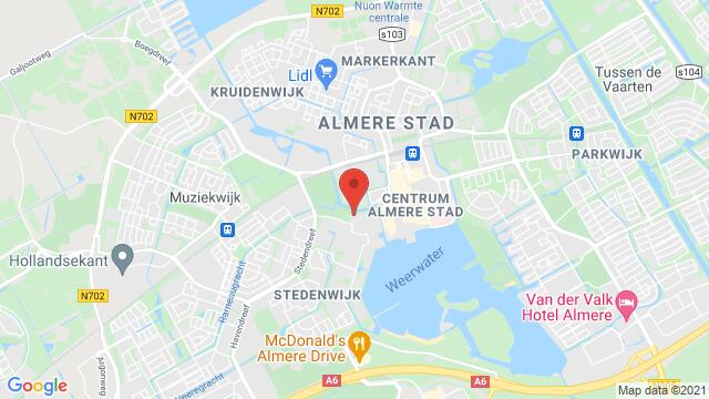 Map of the area around Kampenweg 7, Almere, The Netherlands